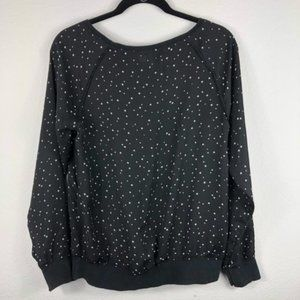 ❤️ Space Star-Studded Semi-Sheer Black Longsleeve